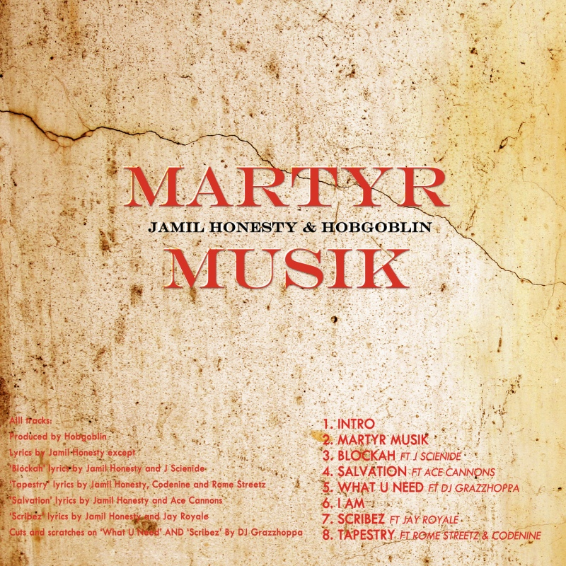 Martyr Musik backcover
